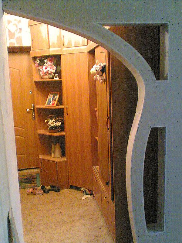 Односторонняя арка из гипсокартона с